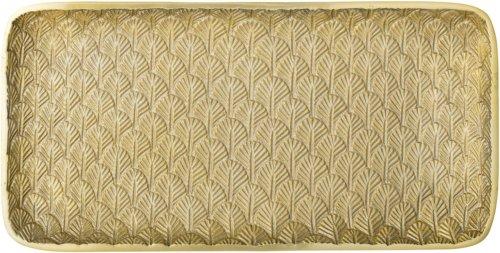 På billedet ser du variationen Bakke, Aluminium, Guldbelagt fra brandet Bloomingville i en størrelse H: 20 cm. L: 39 cm. i farven Guld