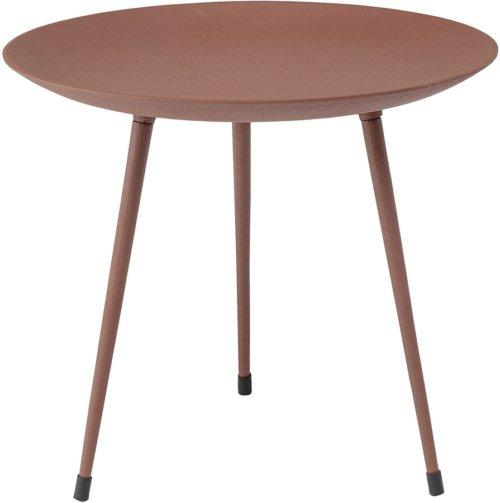 På billedet ser du variationen Collected, Sofabord, Aluminium, Jern fra brandet Bloomingville i en størrelse D: 43 cm. H: 37 cm. i farven Brun