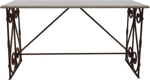 På billedet ser du variationen Jumbled Ex, Bord, Metal, Antik fra brandet Creative Collection i en størrelse H: 84 cm. B: 74 cm. L: 158 cm. i farven Sort/Grå
