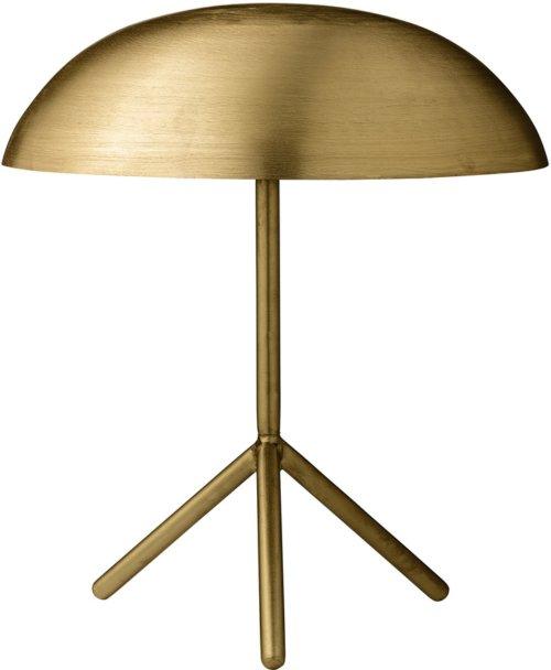 På billedet ser du variationen Ivory, Bordlampe, Rustfrit stål fra brandet Bloomingville i en størrelse D: 35 cm. H: 40 cm. i farven Guld