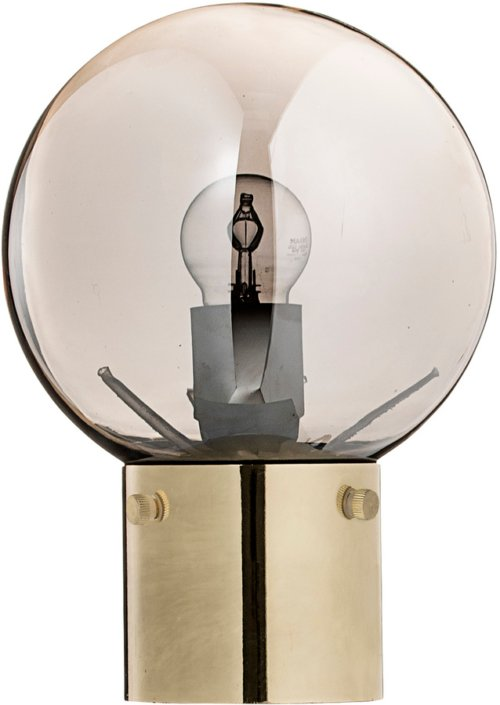 På billedet ser du variationen Nordic, Bordlampe, Glas, Metal fra brandet Bloomingville i en størrelse D: 18 cm. H: 25 cm. i farven Guld
