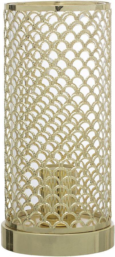 På billedet ser du variationen Cozy, Bordlampe, Guldfarvet fra brandet Bloomingville i en størrelse D: 13 cm. H: 28 cm. i farven Guld