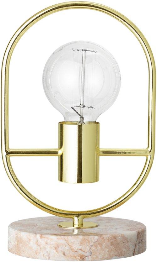 På billedet ser du variationen Nordic, Bordlampe, Jern, Marmor fra brandet Bloomingville i en størrelse D: 17 cm. H: 30 cm. i farven Guld