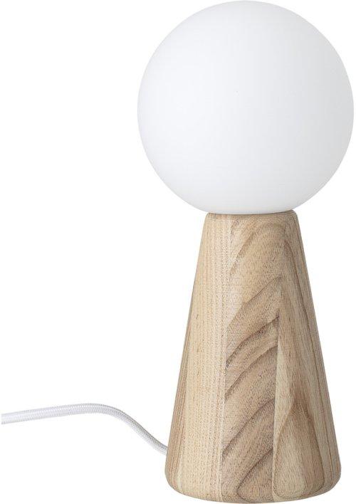 På billedet ser du variationen Collected, Bordlampe, Asketræ, Glas fra brandet Bloomingville i en størrelse D: 12 cm. H: 26 cm. i farven Natur