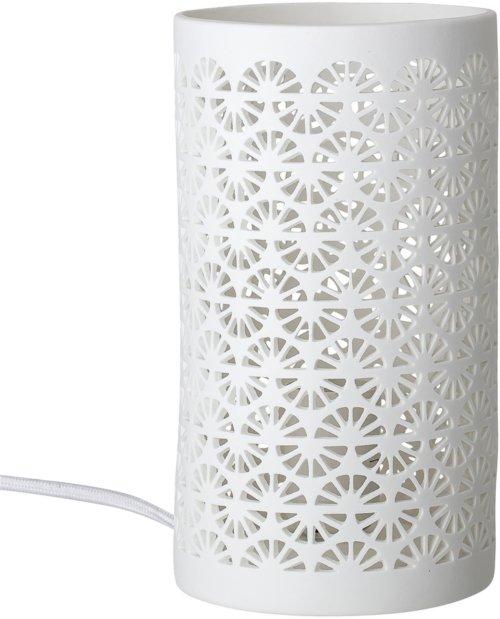På billedet ser du variationen Harmony, Bordlampe, Porcelæn fra brandet Bloomingville i en størrelse D: 12,5 cm. H: 22 cm. i farven Hvid