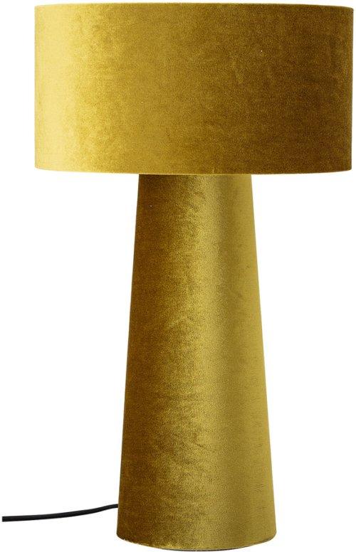 På billedet ser du variationen Harmony, Bordlampe, Polyester fra brandet Bloomingville i en størrelse D: 30 cm. H: 50 cm. i farven Gul