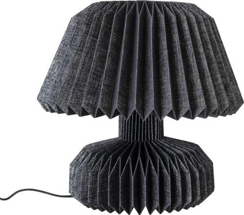 På billedet ser du variationen Cozy, Bordlampe, Papir fra brandet Bloomingville i en størrelse D: 37 cm. H: 36 cm. i farven Sort