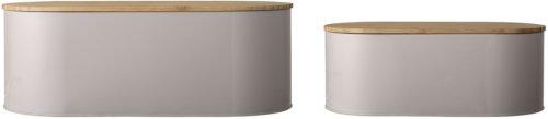 På billedet ser du variationen Nordic, Brødboks, Metal, Træ (sæt af 2 stk.) fra brandet Bloomingville i en størrelse Sæt á 3 stk. i farven Natur/Grå