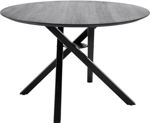 På billedet ser du variationen Nordic, Spisebord, Egetræ, Krydsstel fra brandet Bloomingville i en størrelse D: 118 cm. H: 77 cm. i farven Sort