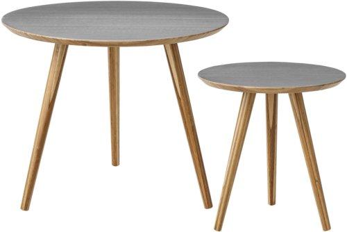 På billedet ser du variationen Nordic, Sofabord, Bambus fra brandet Bloomingville i en størrelse Sæt á 2 stk. i farven Natur/Grå