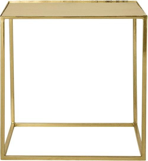 På billedet ser du variationen Golden Jun, Sofabord, Jern, Glas fra brandet Bloomingville i en størrelse H: 45 cm. B: 45 cm. L: 45 cm. i farven Guld