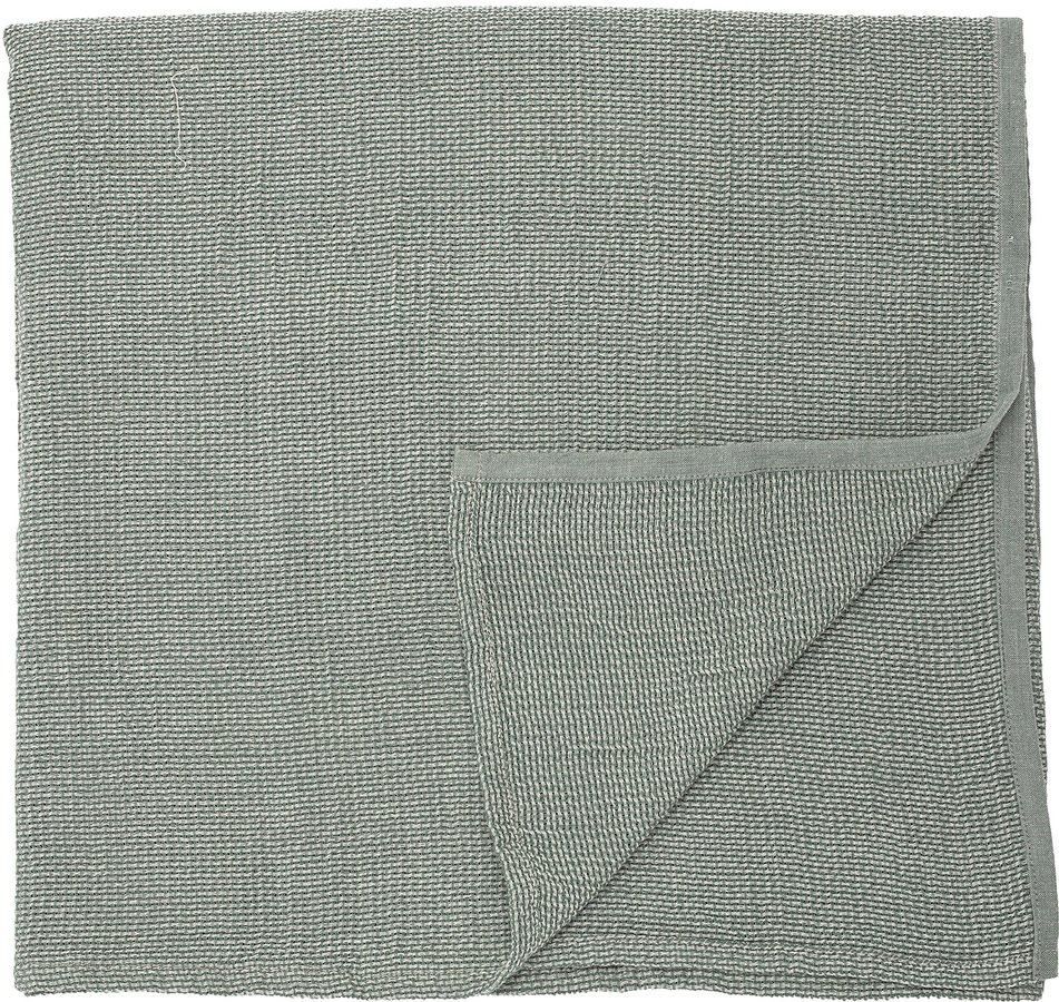Cozy, Dug, Bomuld, OEKO-TEX by Bloomingville (B: 140 cm. L: 320 cm., Grøn/Grå)
