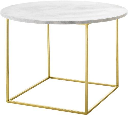 På billedet ser du variationen Ivory, Sofabord, Marmor fra brandet Bloomingville i en størrelse D: 60 cm. H: 40 cm. i farven Hvid