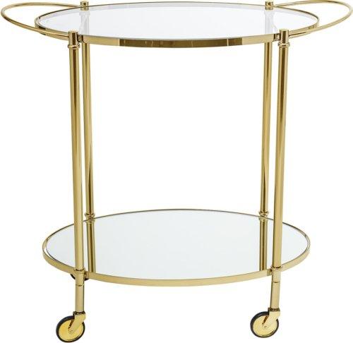På billedet ser du variationen Nordic, Barbord/anretterbord med hjul, Guldbelagt fra brandet Bloomingville i en størrelse H: 81 cm. B: 46 cm. L: 86 cm. i farven Guld
