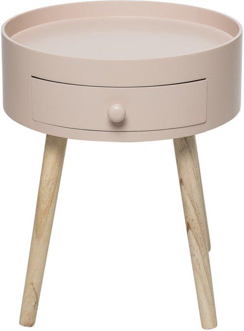 På billedet ser du variationen Ivory, Sidebord med skuffe fra brandet Bloomingville i en størrelse D: 38 cm. H: 45 cm. i farven Lyserød/Natur