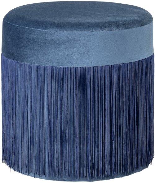 På billedet ser du variationen Ivory, Puf, Polyester fra brandet Bloomingville i en størrelse D: 39 cm. H: 39 cm. i farven Blå