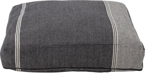 På billedet ser du variationen Gulvpude, Bomuld, Polyester fra brandet Bloomingville i en størrelse H: 10 cm. B: 61 cm. L: 61 cm. i farven Sort/Hvid