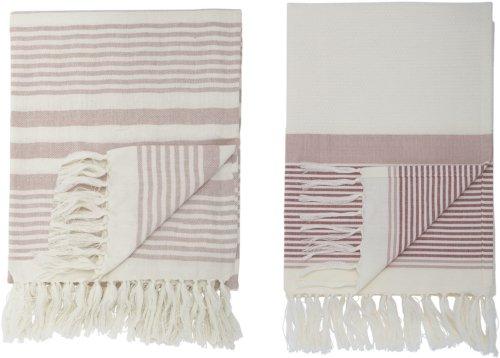 På billedet ser du variationen Cozy, Håndklæde, Bomuld, OEKO-TEX fra brandet Bloomingville i en størrelse B: 100,2 cm. L: 180 cm. i farven Rosa
