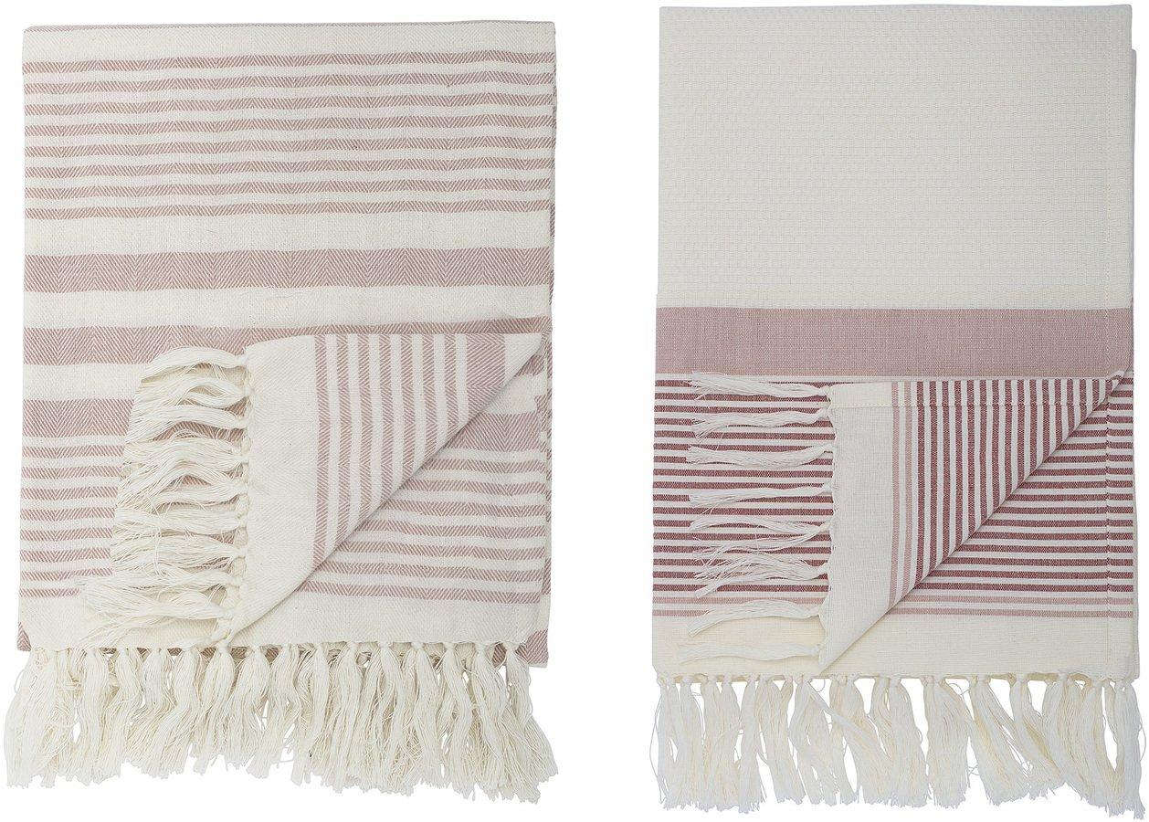 Cozy, Håndklæde, Bomuld, OEKO-TEX by Bloomingville (B: 100,2 cm. L: 180 cm., Rosa)