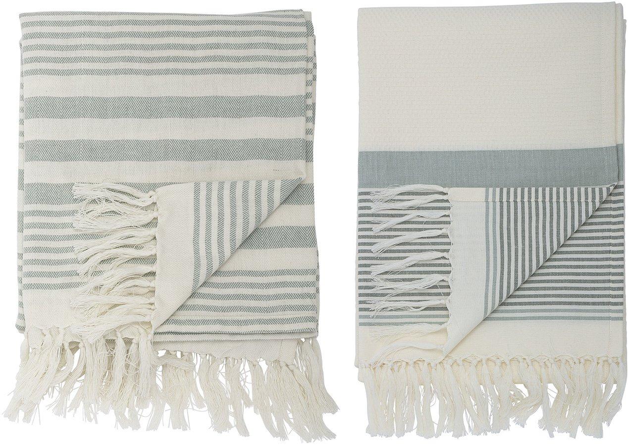 Billede af Cozy, Håndklæde, Bomuld, OEKO-TEX by Bloomingville (B: 100,2 cm. L: 180 cm., Grøn)
