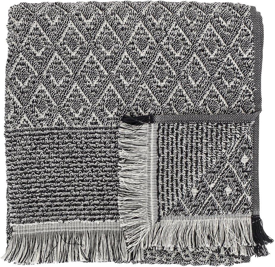Nordic, Håndklæde, Bomuld by Bloomingville (B: 70 cm. L: 140 cm., Sort)