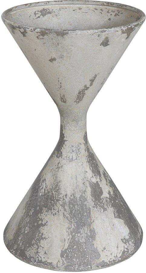 På billedet ser du variationen Jumbled Ex, Urtepotteskjuler, Metal fra brandet Creative Collection i en størrelse D: 38 cm. H: 67 cm. i farven Hvid