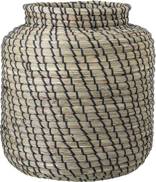 På billedet ser du variationen Collected, Kurv, Havgræs fra brandet Bloomingville i en størrelse D: 32 cm. H: 32 cm. i farven Sort