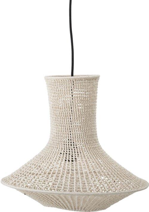 På billedet ser du variationen Collected, Lampeskærm, Bomuld, Jern fra brandet Bloomingville i en størrelse D: 40 cm. H: 40 cm. i farven Natur