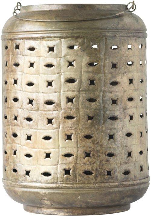 På billedet ser du variationen Gatherings, Lanterne, Jern fra brandet Creative Collection i en størrelse D: 27 cm. H: 40 cm. i farven Messing