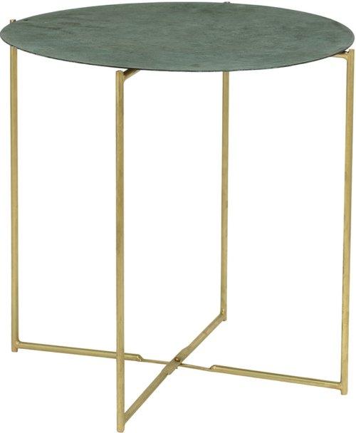 På billedet ser du variationen Cozy, Sofabord, Jern fra brandet Bloomingville i en størrelse D: 45 cm. H: 45 cm. i farven Grøn