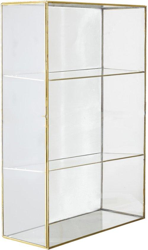 På billedet ser du variationen Ivory, Udstillingsskab, Messing, Glas fra brandet Bloomingville i en størrelse H: 47 cm. B: 11 cm. L: 31 cm. i farven Guld