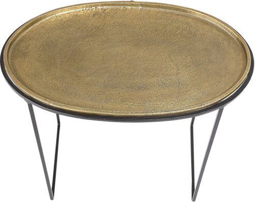 På billedet ser du variationen Cozy, Sofabord, Metal fra brandet Bloomingville i en størrelse H: 43 cm. B: 23 cm. L: 52 cm. i farven Messing