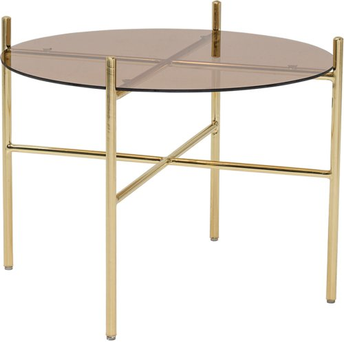 På billedet ser du variationen Cozy, Sofabord, Glas, Jern fra brandet Bloomingville i en størrelse D: 50 cm. H: 40 cm. i farven Brun
