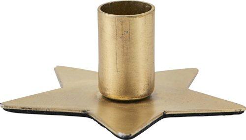 På billedet ser du variationen Lysestage, Star fra brandet House Doctor i en størrelse Ø: 6 cm. i farven Messing
