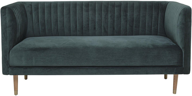 Nordic, 2-personers sofa, Egetræsben by Bloomingville (H: 77 cm. B: 73 cm. L: 159 cm., Grøn)