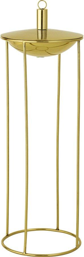 På billedet ser du variationen Olie Lampe, Rustfrit stål, Messing fra brandet Bloomingville i en størrelse D: 19 cm. H: 57 cm. i farven Guld
