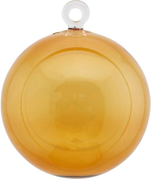 På billedet ser du variationen Ornament, All Glass fra brandet House Doctor i en størrelse Ø: 8 cm. i farven Gul/Brun