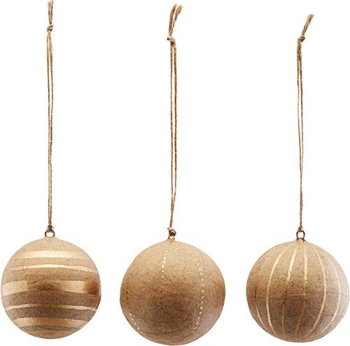 På billedet ser du variationen Ornament, Craft, Sæt Af 3 Designs fra brandet House Doctor i en størrelse Ø: 5 cm. i farven Guld