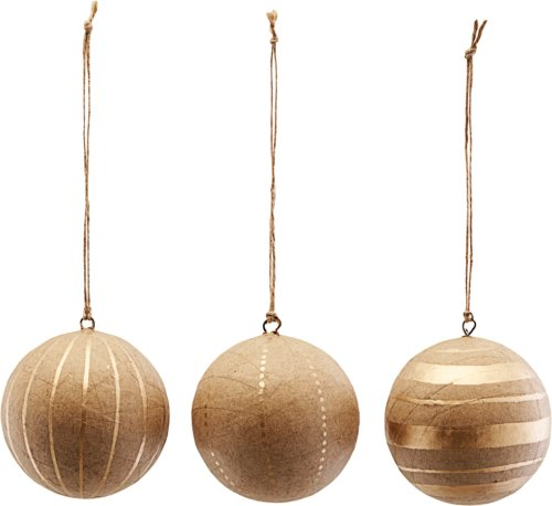 På billedet ser du variationen Ornament, Craft, Sæt Af 3 Designs fra brandet House Doctor i en størrelse Ø: 8 cm. i farven Guld