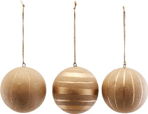 På billedet ser du variationen Ornament, Craft, Sæt Af 3 Designs fra brandet House Doctor i en størrelse Ø: 10 cm. i farven Guld