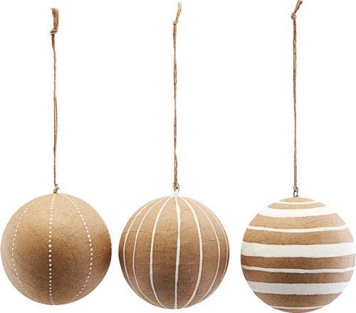 På billedet ser du variationen Ornament, Craft, Sæt Af 3 Designs fra brandet House Doctor i en størrelse Ø: 10 cm. i farven Hvid