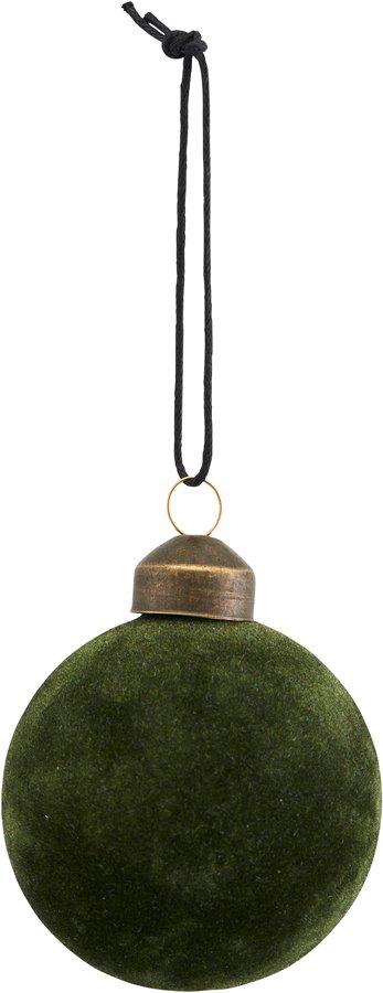 På billedet ser du variationen Ornament, Flock fra brandet House Doctor i en størrelse Ø: 5,5 cm. i farven Mørkegrøn