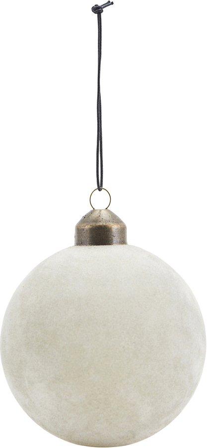 På billedet ser du variationen Ornament, Flock fra brandet House Doctor i en størrelse Ø: 8 cm. i farven Grå