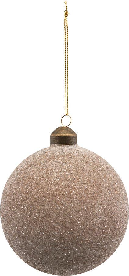 På billedet ser du variationen Ornament, Glittery fra brandet House Doctor i en størrelse Ø: 8 cm. i farven Sandfarvet
