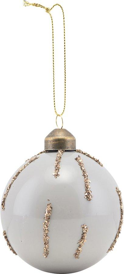 På billedet ser du variationen Ornament, Gold, Details fra brandet House Doctor i en størrelse Ø: 8 cm. i farven Grå