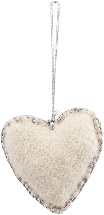 På billedet ser du variationen Ornament, Heart, Puffi fra brandet House Doctor i en størrelse L: 6 cm. i farven Sand