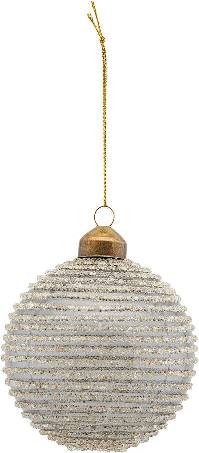 På billedet ser du variationen Ornament, Horizontal Glitter fra brandet House Doctor i en størrelse Ø: 8 cm. i farven Mørkegrå