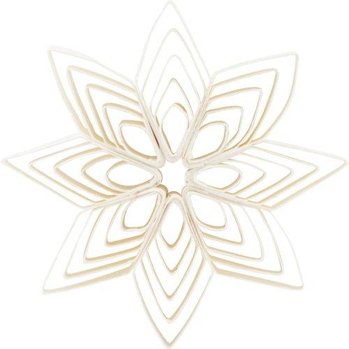 På billedet ser du variationen Ornament, Ouilling fra brandet House Doctor i en størrelse B: 10 cm. i farven Hvid