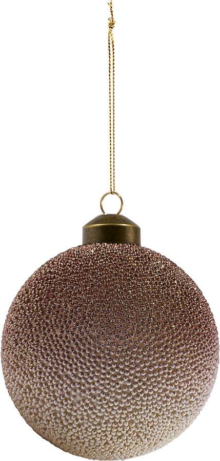 På billedet ser du variationen Ornament, Pearl fra brandet House Doctor i en størrelse Ø: 10 cm. i farven Grå/Rosa