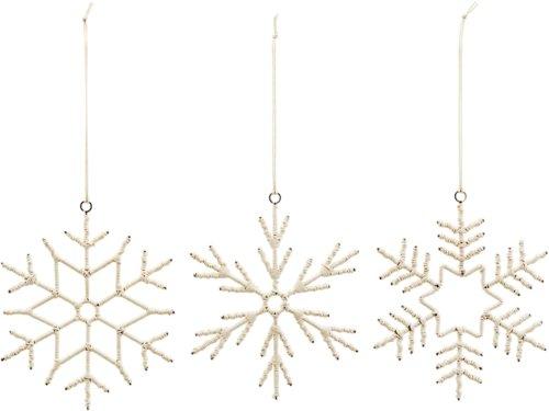 På billedet ser du variationen Ornament, Soft, Sæt Af 3 Designs fra brandet House Doctor i en størrelse Ø: 15 cm. i farven Beige